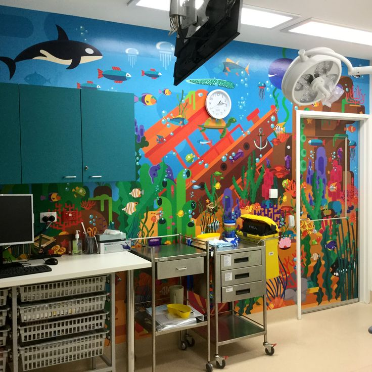 Tamworth Regional Referral Hospital. The Imaginarium project. Children's ward. Treatment room.