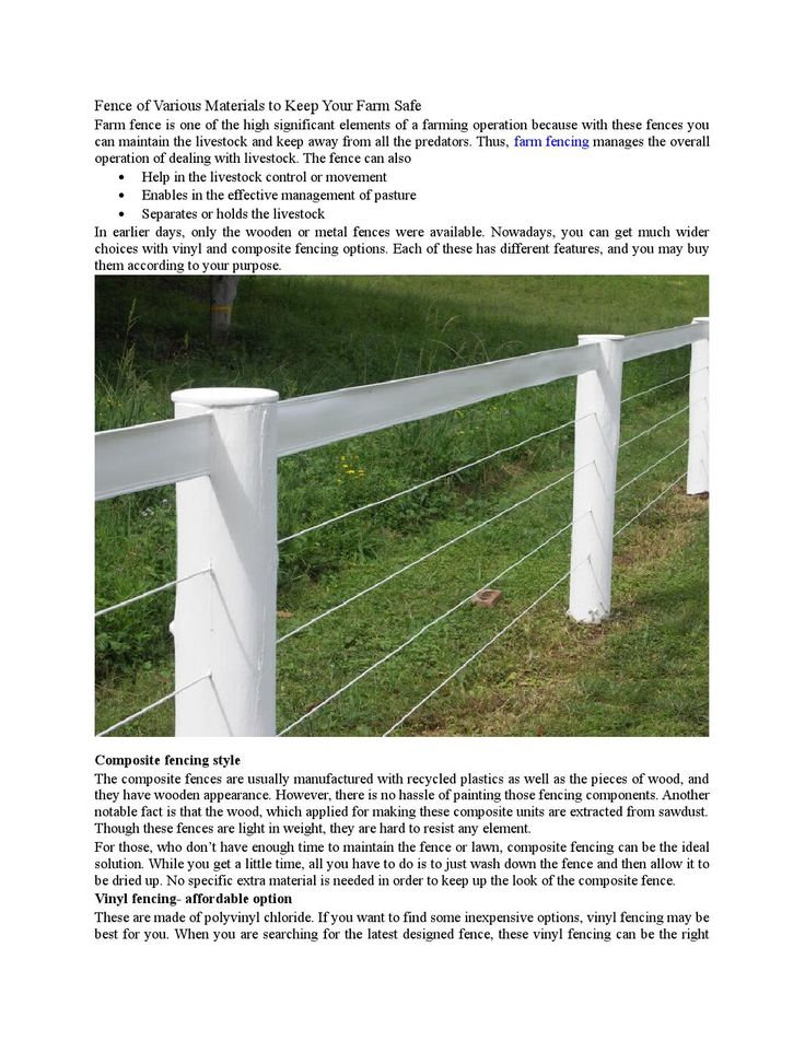 #Fence of Various Materials to Keep Your #Farm Safe | Issuu