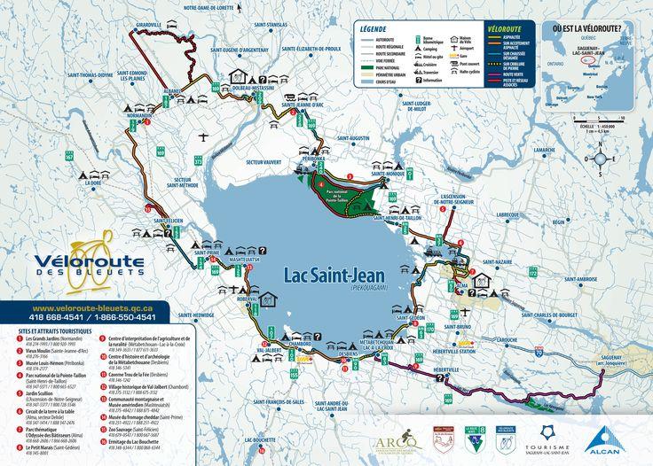 Un aperçu des 256 km de circuit de la #veloroute des Bleuets. #Saguenay_Lac Pour toutes les informations : http://www.veloroute-bleuets.qc.ca/