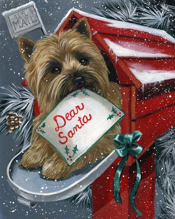 Cairn Terrier A List For Santa-Suzanne Renaud