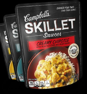 Try New Campbell's® Skillet Sauces.  --  I had a quick and delicious dinner with the shrimp scampi sauce.