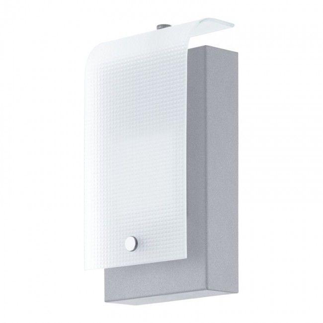 EGLO VESCAVA LED Außen Wandleuchte, IP44, silber, 94115