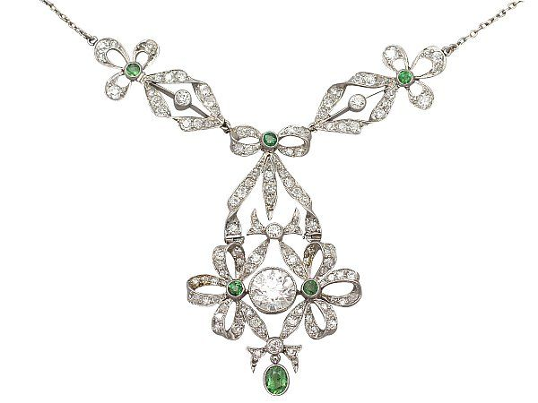 The 59 best victorian jewellery images on pinterest 253 ct diamond and 015 ct peridot platinum necklace antique circa 1900 aloadofball Choice Image