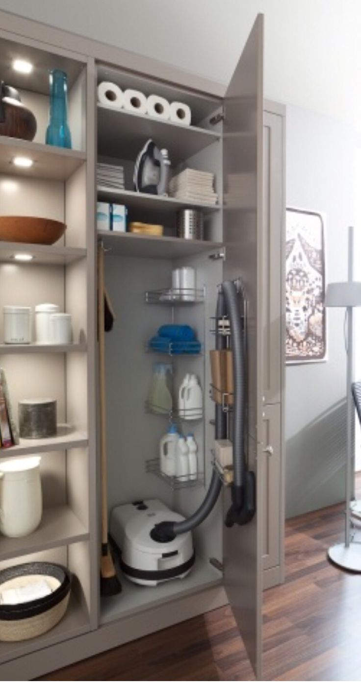 organizing a small kitchen 40 best broom closet images on broom storage 3788