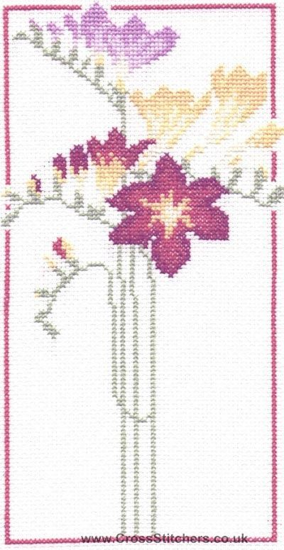 Floral - Freesia Cross Stitch Kit from Classic Embroidery