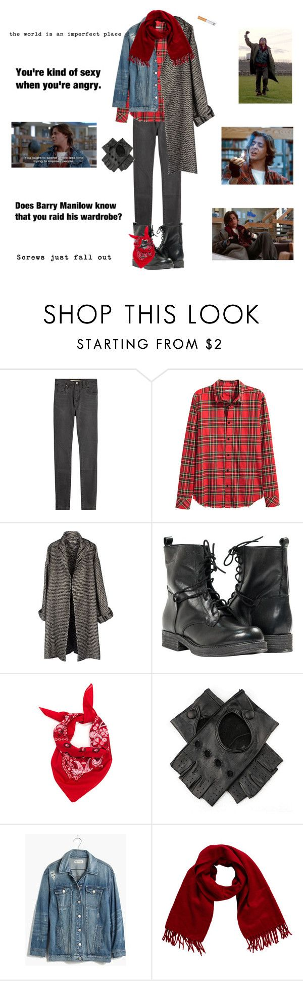 """""""John Bender: My Halloween Costume"""" by adriannamartin70 ❤ liked on Polyvore featuring Burberry, Jean-Paul Gaultier, Paolo Shoes, Black, Madewell, Loro Piana, men's fashion and menswear"""