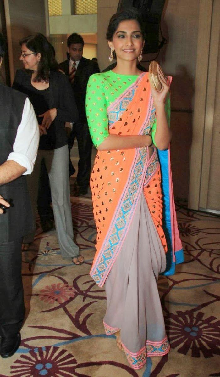Sonam Kapoor : Saree Photos !!