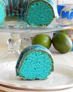 Blue Kamikaze Cocktail Cake - So gorgeous, and sounds delicious! @Cooking with Curls
