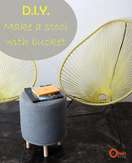 Ohoh Blog - diy and crafts: DIY Make a stool with bucket #1
