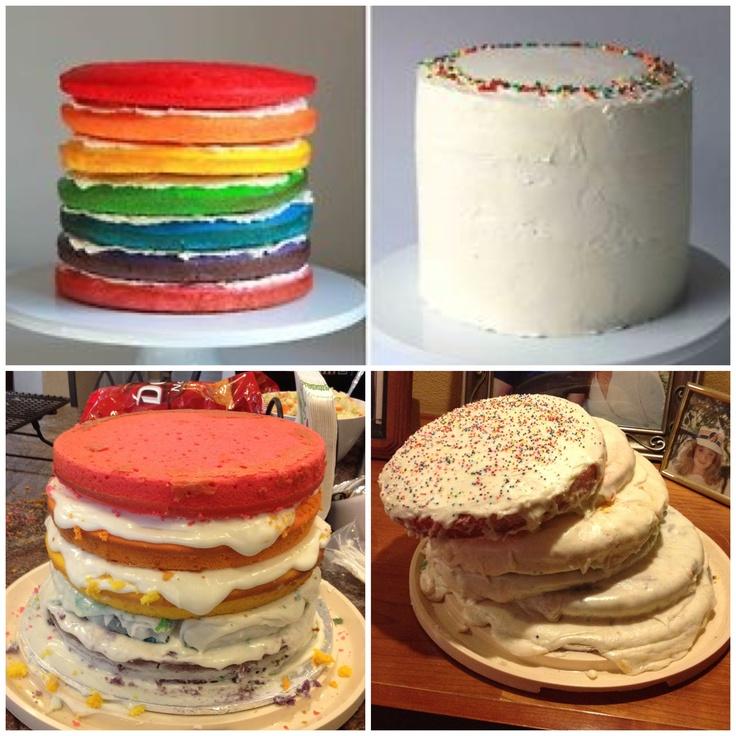 Pinterest fail: Rainbow Cake Pinterest Fail / Nailed It ...