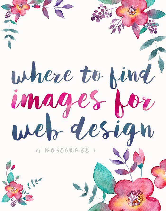 Tips on where to find free, paid, and affordable images to use in web design and blogging