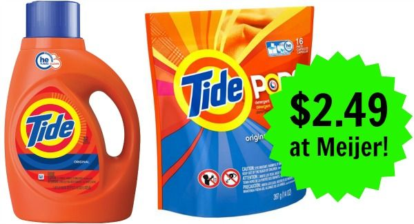 Meijer: Tide Laundry Detergent Only $2.49!