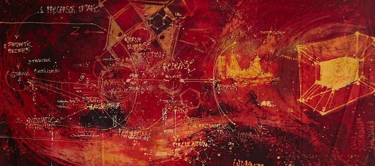 TANO.  VISIONS OF A POSSIBLE FUTURE / 2009 / 90cm x 198cm / batik (napthol on primissima fabric)