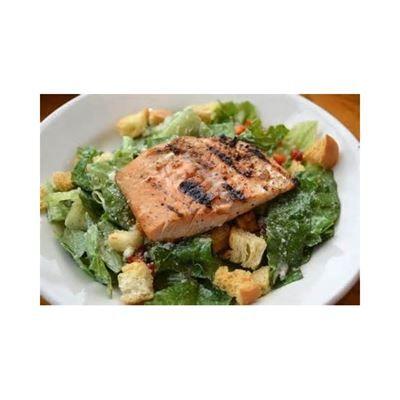 Salmon Caesar Salad From Antonio S Pizzeria Italian Restaurant In Sherman Oaks Ca Food