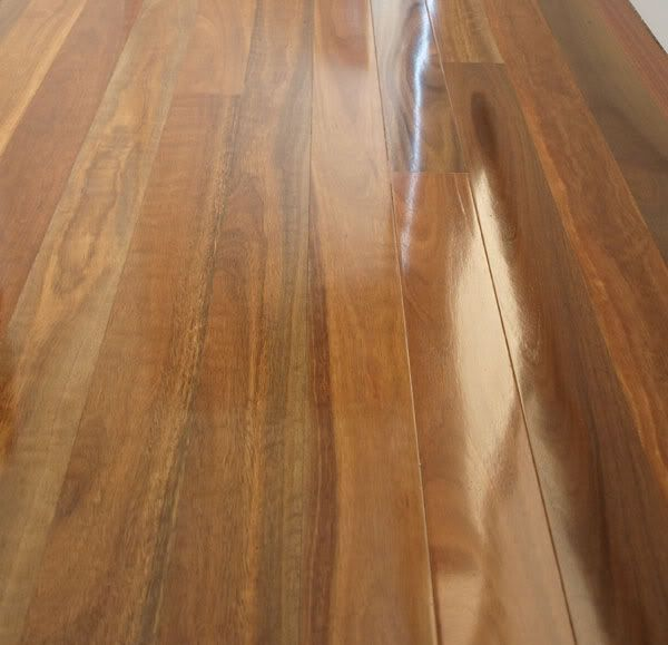 Spotted Gum Timber Floor With Semi Gloss Coating Timber