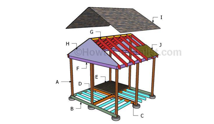 Building a square gazebo patio ideas pinterest for Gazebo floor plans