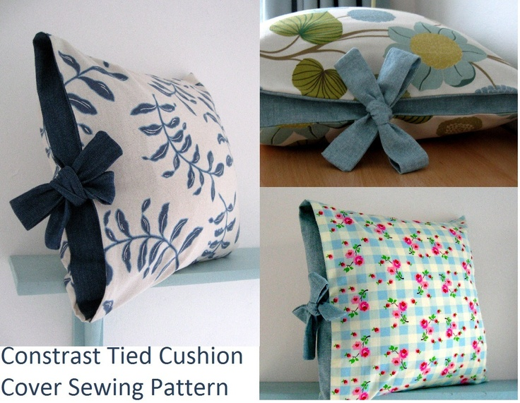 Contrast tied cushion cover sewing tutorial & 162 best COJINES images on Pinterest | Crafts Cushions and Good ideas pillowsntoast.com