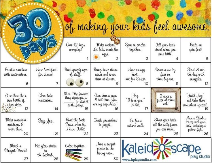 A 30 day challenge to connect with your kids and make them feel AWESOME. <3