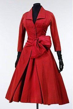 1955 Short Day Dress Christian Dior Late Vintage