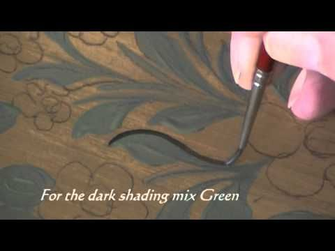 Painting Leaves - Decorative Painting, Bauernmalerei & Tole Paint