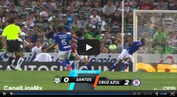 Vídeo del resumen y goles entre Santos vs Cruz Azul partido que corresponde al juego de ida de la Semifinal de la Liguilla Liga MX Clausura 2013.  Marcador Final: Santos 0-3 Cruz Azul