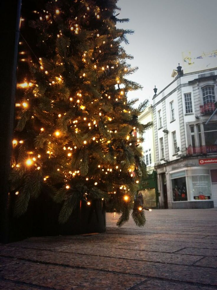 Christmas tree in Cork cIty centre. Tweeted by @idahocafe.