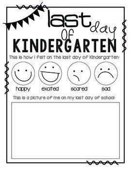 Use this for your kindergarteners' last day of school! They can easily color in which emotion they are feeling and then color a picture of what they look like. It is fun to see how they draw themselves at the beginning of the year compared to the end of the year!