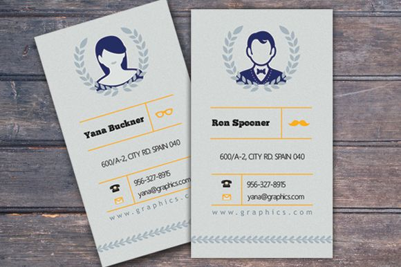 Check out Retro Business Card Template by Feather Art on Creative Market