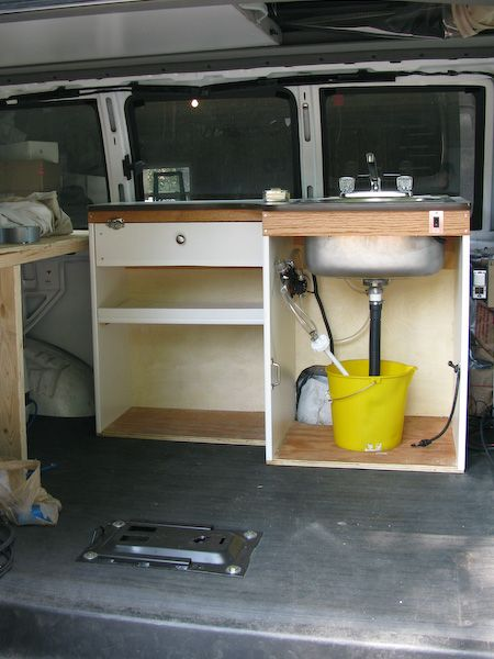 The Sink Is Installed Camping Van Conversion Parts