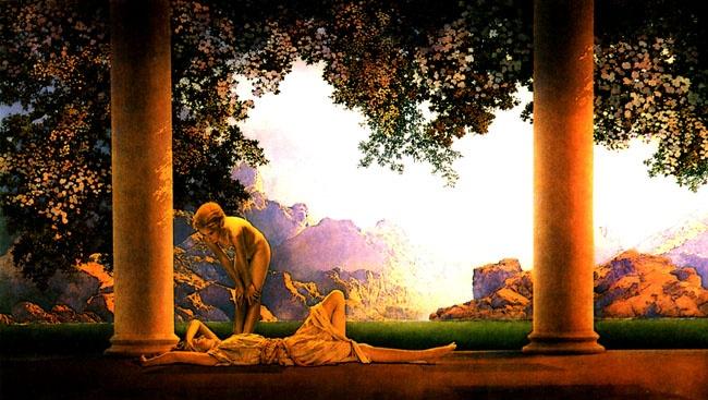 Maxfield Parrish - Daybreak: Artists, Oil Paintings, Parrish Daybreak, Anniversaries Gifts, Maxfield Parrish, Art Prints, Maxfieldparrish, Daybreak 1922, Maxfield Parish