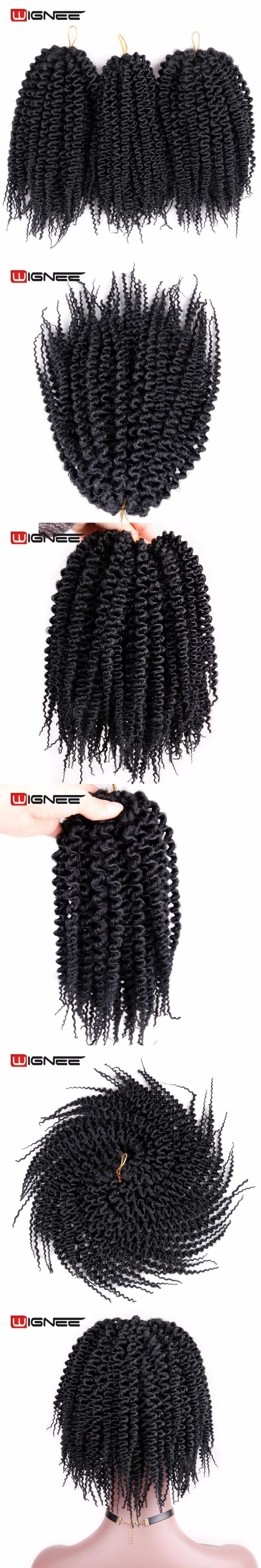 Wignee Low Temperature Synthetic Fiber Havana Twist Hair Extensions For Black Women Fake Hair Crochet Twist Braiding Hair Pieces