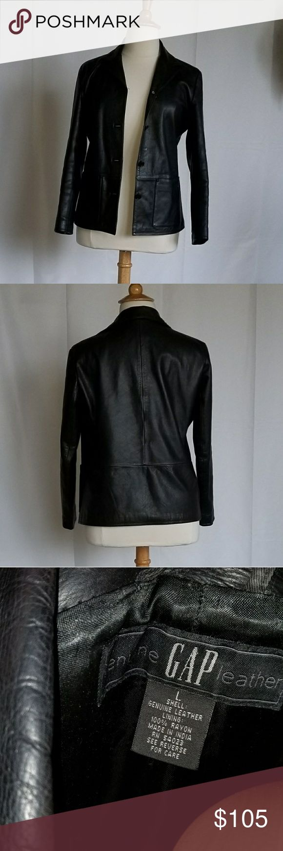 Ladies' black leather jacket Excellent, like New condition GAP Jackets & Coats