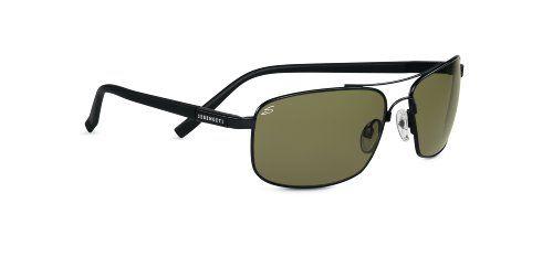 Serengeti Sunglasses Palladium Lens: Polar PhD 555nm, Black
