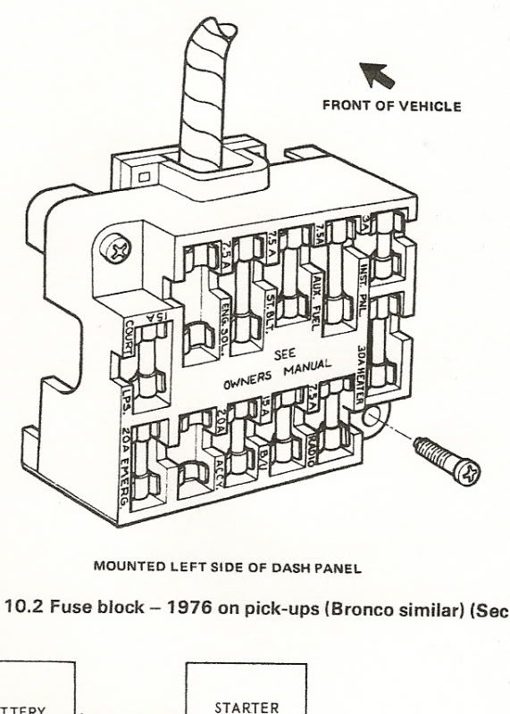 1983 Ford F 150 Wiper Switch Wiring Diagram Fuse Block 1976 Ford Truck Enthusiasts Forums Fuse Box