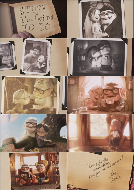 Up; this part of the movie is possibly one of the saddest yet most adorable.
