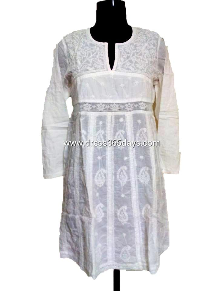 24 Best White Chikan Kurti Images On Pinterest