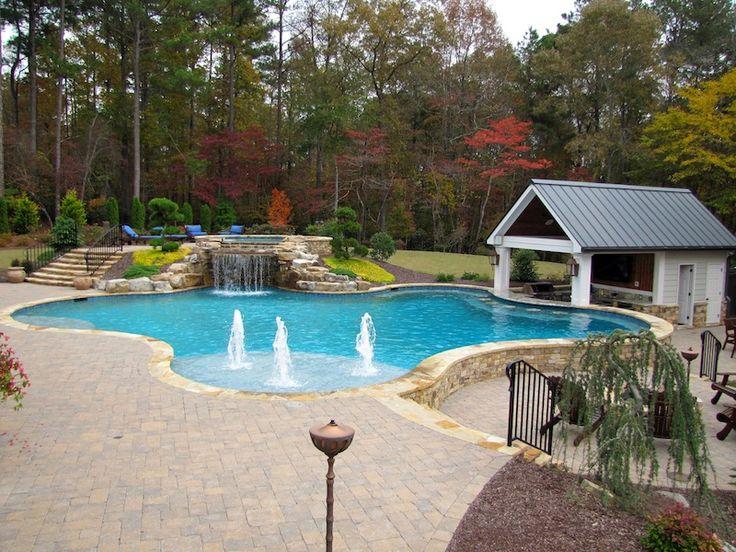 Atlanta Pool Builder Freeform In Ground Swimming Pool Photos Incredible Pools Pinterest