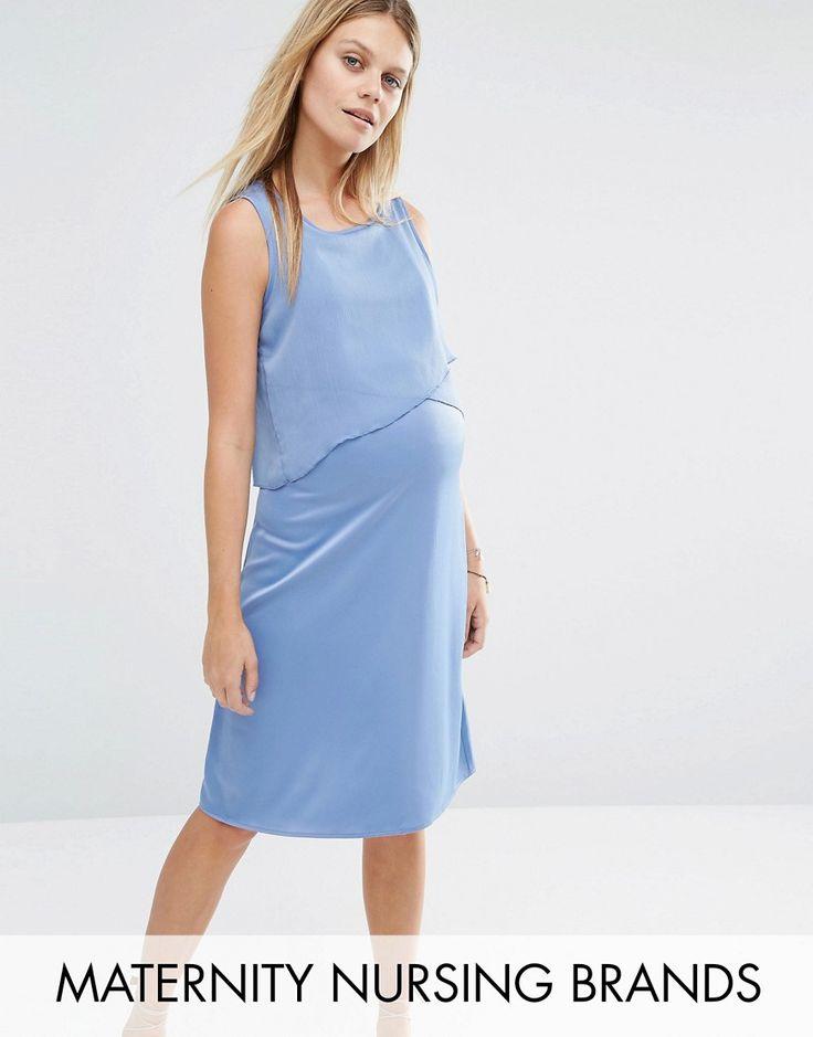 ¡Cómpralo ya!. Vestido de lactancia sin mangas con capa superior con volantes de Mamalicious. Maternity dress de Mama.Licious, En un acabado de tejido, Escote redondo, Capa exterior corta, Ideal para la lactancia, Corte estándar - se ajusta al tallaje real, Con un diseño que se ajusta durante y después del embarazo, Lavar a máquina, 100% poliéster, Modelo: Talla UK S/EU S/USA XS; Altura de 180 cm/5'11. ACERCA DE MAMALICIOUS Mama.Licious make light work of pregnancy dressing, with a mod...