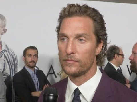 """On the carpet for his latest film, """"The Dark Tower,"""" Matthew McConaughey reacts to the news that Sam Shepard had passed away. McConaughey starred with Shepar..."""