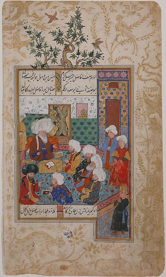 """""""The Great Abu Sa'ud Teaching Law"""", Folio from a Divan of Mahmud `Abd-al Baqi Mahmud 'Abd-al Baqi (1526–1600)"""