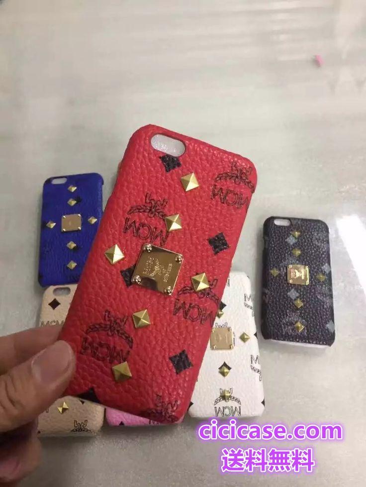 リベット付きのポップ風 エムシーエム アイフォン7ケース 韓国芸能人愛用のブランドMCM iphone7/6s plus ペア ケース かっこいい