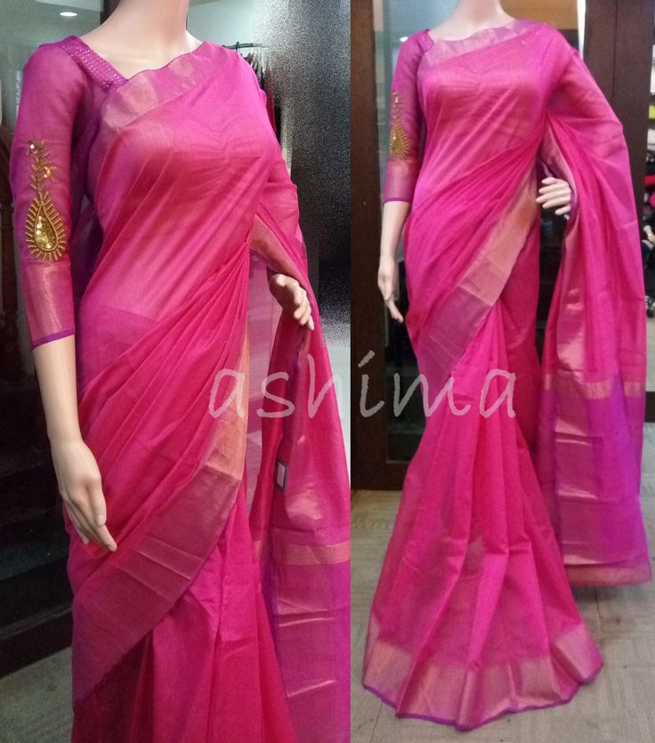 Code:1206161 - Semi Silk saree With Hand Embroidered Blouse, Price INR:2790/- Booked by a Customer