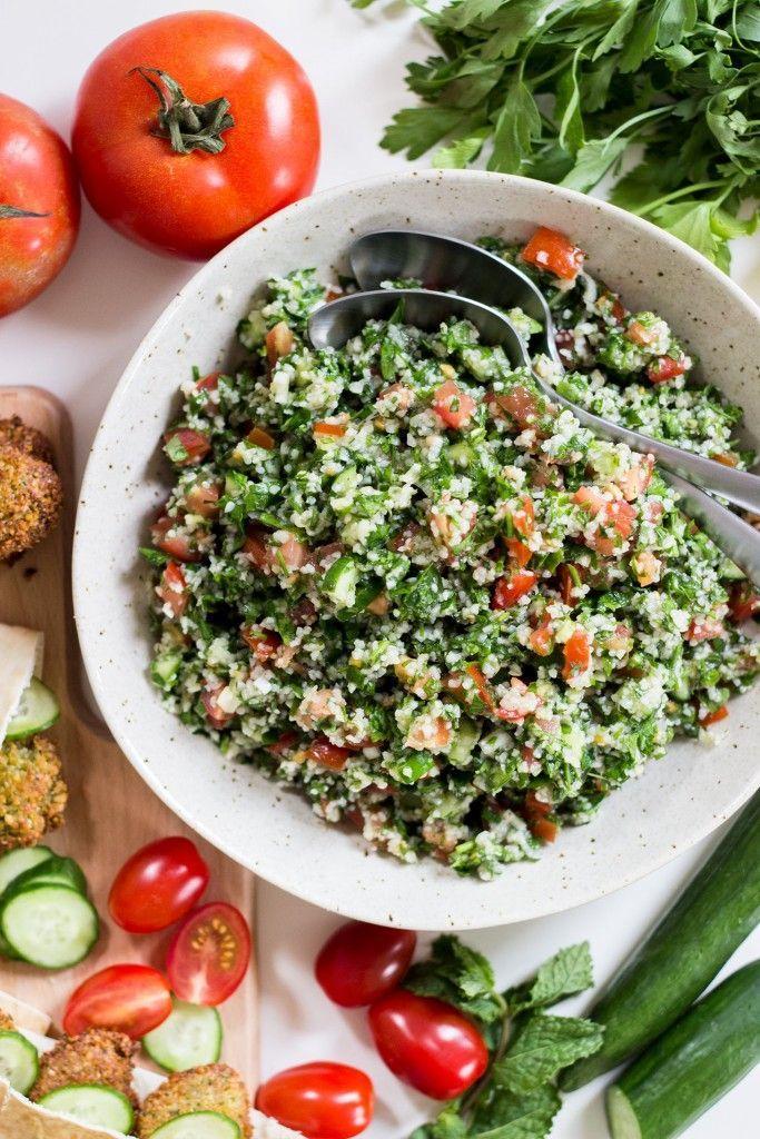 Easy Lebanese Tabbouleh Salad | Preprosta libanonska solata tabuleh | Dear Kitchen | #vegan #vegetarian