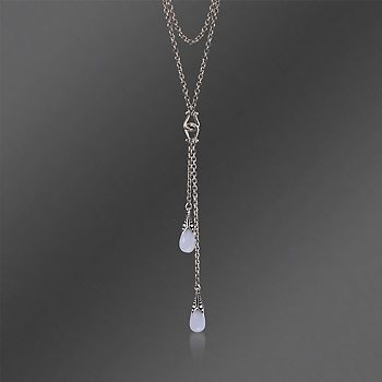 Scott Kay Blue Chalcedony Necklace in Sterling Silver. 16