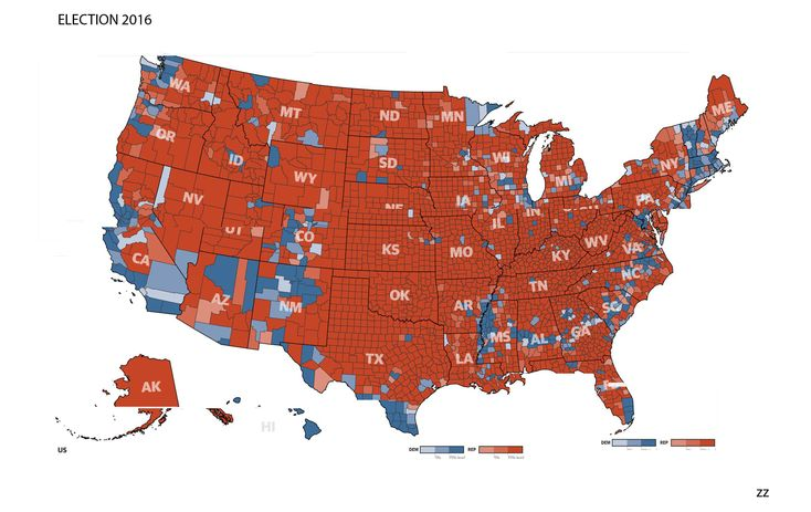 The 2016 electoral map (broken down by County) that the mainstream media don't really want you to see. Meanwhile, Clinton is claiming she got more than 50% of the vote...