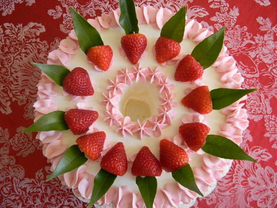 Gluten Free Strawberry Mousse Cake by Sucres on Etsy, $48.00
