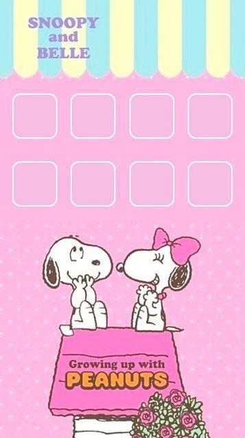 iPhone5 ホーム画面 スヌーピーの画像 プリ画像