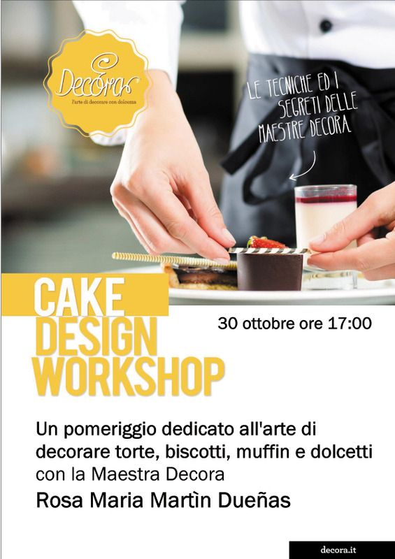 Apre la giornata all'insegna del gusto il 30 ottobre a Napoli la maestra Dueñas di Decora per un pomeriggio di #cakedesign!
