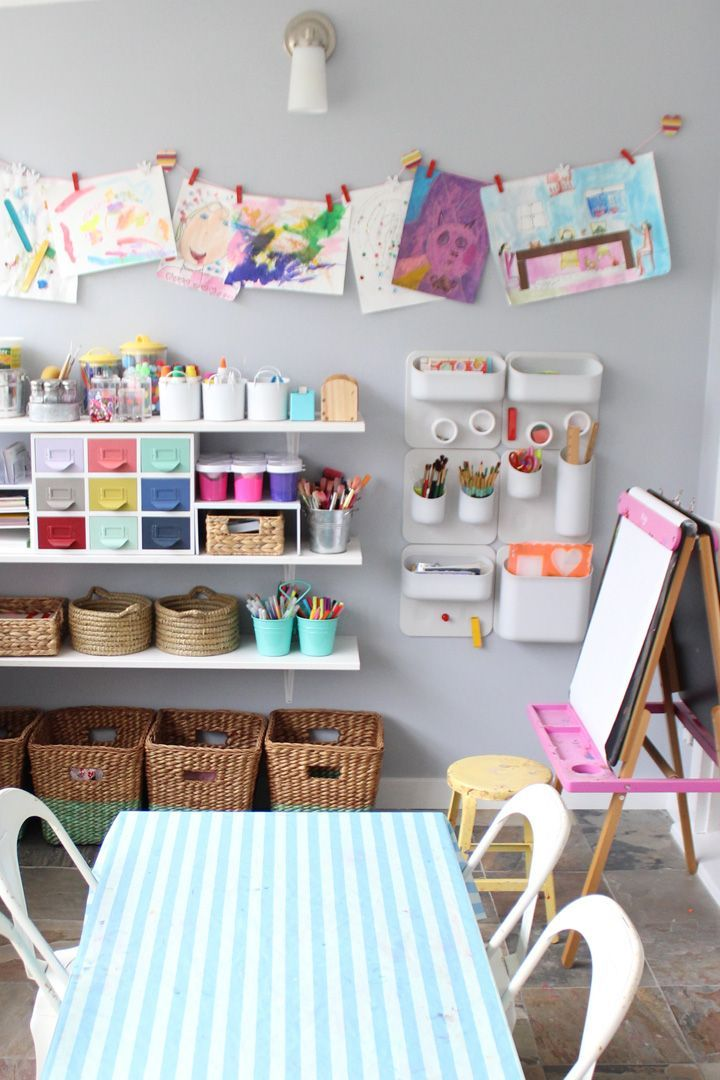 Creative ways to transform your kids playroom into the coolest spot in the house where they could explore their creativity!