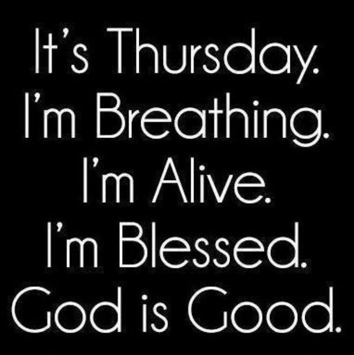 It's Thursday